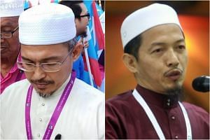 Nik Omar Nik Aziz (left) is contesting the Chempaka state seat as a candidate for Parti Amanah Negara, while Nik Aziz's fourth son Nik Abduh is contesting the Bachok seat as a PAS candidate.