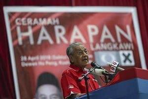 Dr Mahathir is the oldest candidate in the general election at 93.