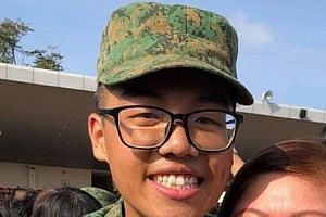 Private Dave Lee Han Xuan was taken to hospital after he showed signs of heat injury upon completing an 8km fast march at Bedok Camp on April 18.