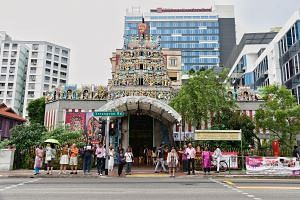 Operations and daily services at the Sri Veeramakaliamman Temple - one of Singapore's oldest Hindu shrines - continue as usual.