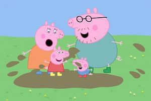 "Chinese media reported that parents had complained the cartoon was encouraging some pre-schoolers ""to oink and jump in puddles""."