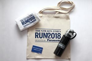 The exclusive ST Run premiums are a cotton tote bag, a towel and a water bottle with a misting feature.