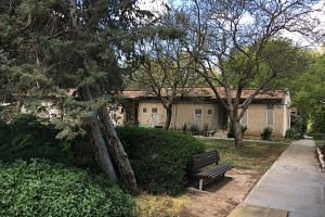 In the kibbutz in Brur Hail, the older houses which are small, single-storey and grey-brown structures reflect the socialist and agrarian ideals of the founding generation.