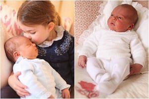 Louis, who is fifth in line to the British throne, was born on April 23 weighing 3.83 kg.