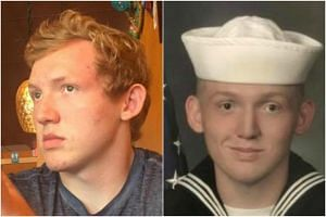 Missing seaman Seth Woods' sister posted photos of her brother in uniform and civilian clothes on Facebook, asking anyone who has seen him to contact her.