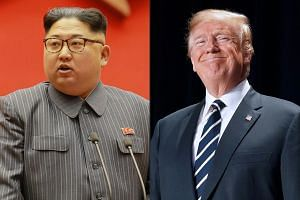 """United States President Donald Trump (right) will """"most likely"""" meet North Korean leader Kim Jong Un before the G-7 talks so he can report the results at the summit."""