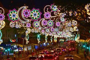 From May 12, 2018, over 50 light installations in the Hari Raya Light-Up will illuminate a 2.25km stretch of Sims Avenue, Geylang Road and Changi Road.