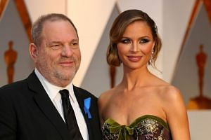 Harvey Weinstein and Georgina Chapman arrrive at the 89th Academy Awards in 2017.