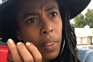 Donisha Prendergast, a filmmaker and a granddaughter of Bob Marley, in a screenshot from her video.