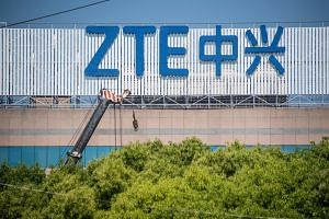 ZTE Corp relied on US companies such as Qualcomm and Intel for components.