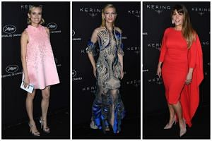 Actress Diane Kruger, president of the Cannes Film Festival Jury Cate Blanchett and Wonder Woman director Patty Jenkins arrive for the Kering Women in Motion Awards Dinner Party at the Cannes Film Festival.