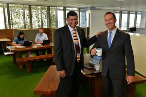 Mr Lelwyn D'Souza, vice president Supply Chain, Asia Pacific, of Ecolab (left) and Mr Sean Toohey, president of Ecolab (right)