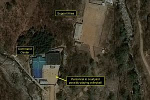 Commercial satellite imagery of the Punggye-ri Nuclear Test Facility released on May 3, 2017.