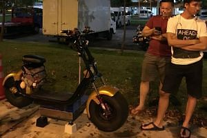One of the e-scooters seized weighed slightly more than 64kg - well over the maximum limit of 20kg.