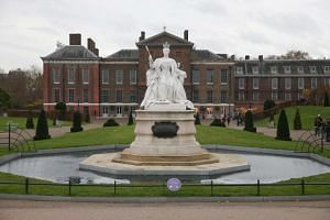 A marble statue of Britain's Queen Victoria is pictured in the gardens of Kensington Palace in west London.