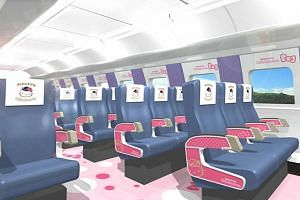 The Hello Kitty-themed train will include a themed photobooth area in one car, named the Kawaii! Room.