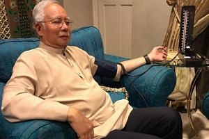 Datuk Seri Najib Razak posted on Twitter this photo of him getting a blood pressure test at his Kuala Lumpur home yesterday. He referred to it as a routine health check.