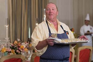 A file photo of chef Mario Batali at the White House in Washington, DC, during a preview of the state dinner to be held for Italian Prime Minister Matteo Renzi and his wife Agnese Landini, on Oct 17, 2016.