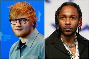 Ed Sheeran (left) and Kendrick Lamar are among the winners at the ongoing 2018 Billboard Music Awards.