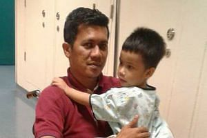 Former S-League footballer Nur Alam Shah was raising money so that his son Muhammad Royyan, four, could undergo surgery.