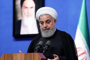Iranian President Hassan Rouhani at a ceremony in Tehran, Iran, on May 21, 2018.