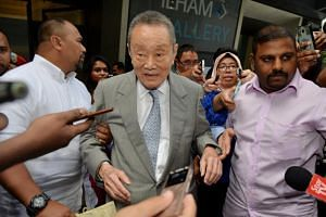 Businessman Robert Kuok leaves a Council of Elders meeting in Kuala Lumpur, Malaysia, on May 22, 2018.