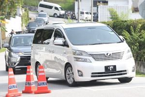 A convoy of three vehicles, including former Malaysia's prime minister Najib Razak's white Toyota MPV, was seen leaving his residence in Langgak Duta at 9.50am on May 23, 2018.