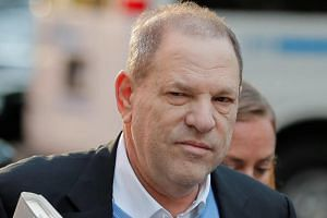 Film producer Harvey Weinstein arriving at the 1st Precinct in Manhattan in New York on May 25, 2018.