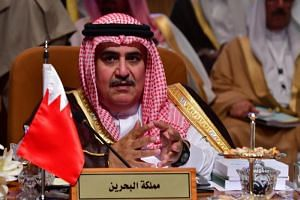 Bahrain's Minister of Foreign Affairs, Sheikh Khalid bin Ahmed al-Khalifa, said he does not see any resolution in sight for the diplomatic row between Qatar and its neighbours.