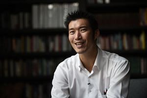 Mr Thanathorn Juangroongruangkit, leader of Thai political party Future Forward, speaking about his political ambitions during an interview in Bangkok on March 13, 2018.