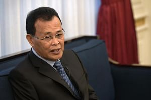 """Johor Menteri Besar Osman Sapian said he will be making a visit to Singapore """"in the next three months""""."""