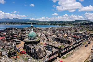 "A quarter of Marawi was reduced to dust and rubble by a five-month war sparked by an attempt by Islamist extremists in May last year to turn the southern Philippine city into a ""province"" of ISIS."