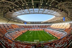 The Mordovia Arena in Saransk, Russia, which will host four group games of the 2018 Fifa World Cup.
