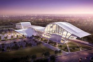 An artist's impression of Batu Pahat station on the KL-Singapore HSR line. Malaysia has cancelled the project as its price tag is said to be prohibitive.