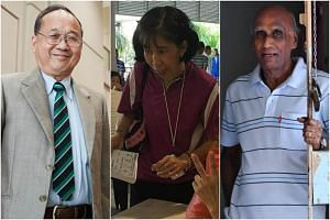 (From left) Mr Mok Siew Cher, Madam Jenny Yim and Mr Govindan Samy have made significant charity donations to help others.