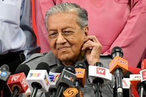 Malaysia's Prime Minister Mahathir Mohamad during a press conference in Kuala Lumpur, on June 1, 2018.
