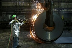 A steel mill in Farrell, Pennsylvania. Trade tantrum could occur again, after the US said last week it will impose steel and aluminium tariffs on its allies, Canada, Mexico and the European Union, with the countries vowing to retaliate.