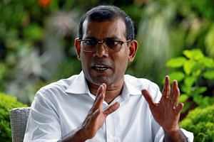 The Maldives' former president Mohamed Nasheed said President Abdulla Yameen's government had given China a contract to build a 1.4-km bridge in Male at a cost of US$300 million (S$400.6 million), or about four times the government estimate.