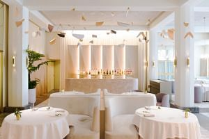 French fine-dining restaurant Odette is helmed by French chef Julien Royer.