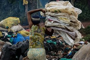 A study, billed as the most comprehensive review of government action to curb single-use plastics, said up to 5 trillion plastic bags were used worldwide each year.