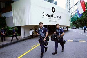 Gurkhas on patrol at the Shangri-la Dialogue in Singapore on June 1, 2018.