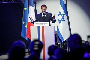 French President Emmanuel Macron at the opening ceremony of the France-Israel season event in Paris, France, on June 5, 2018.