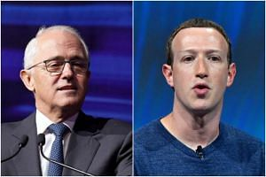 Prime Minister Malcolm Turnbull (left) said he welcomes Facebook boss Mark Zuckerberg to Australia to testify before the parliamentary committees.
