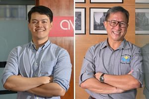 Mr Aaron Lee (left) is co-founder of Jaga-Me, an online platform that brings healthcare services to the home. Mr Koh Seng Choon runs a hawker training school for people with disabilities.
