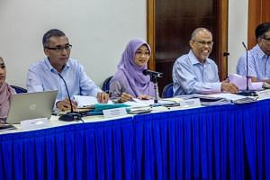 Minister-in-charge of Muslim Affairs Masagos Zulkifli (right) at the Yayasan Mendaki's 29th annual general meeting on June 9, 2018.
