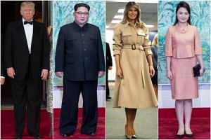 (From left) US President Donald Trump, North Korean Leader Kim Jong Un, US First Lady Melania Trump and North Korean First Lady Ri Sol Ju.