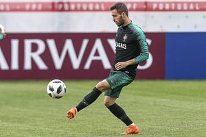 Portugal's Bernardo Silva at a training session on Tuesday. The European champions are ranked fourth in the world, six rungs above Spain.