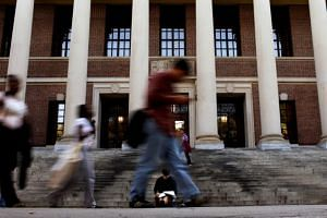 A study showed that Asian-American students' personal ratings significantly dragged down their chances of being admitted into Harvard University in Cambridge, Massachusetts, US.