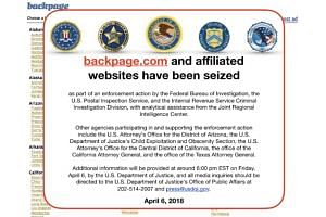 The website Backpage.com had used the Communications Decency Act to win numerous pimping-related lawsuits filed against it, arguing that it hosts rather than creates content.