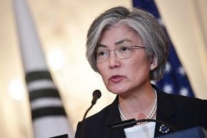 Sanctions against North Korea could be eased when substantive steps towards denuclearisation are taken, said South Korea's Foreign Minister Ms Kang Kyung Wha to reporters, on June 18.